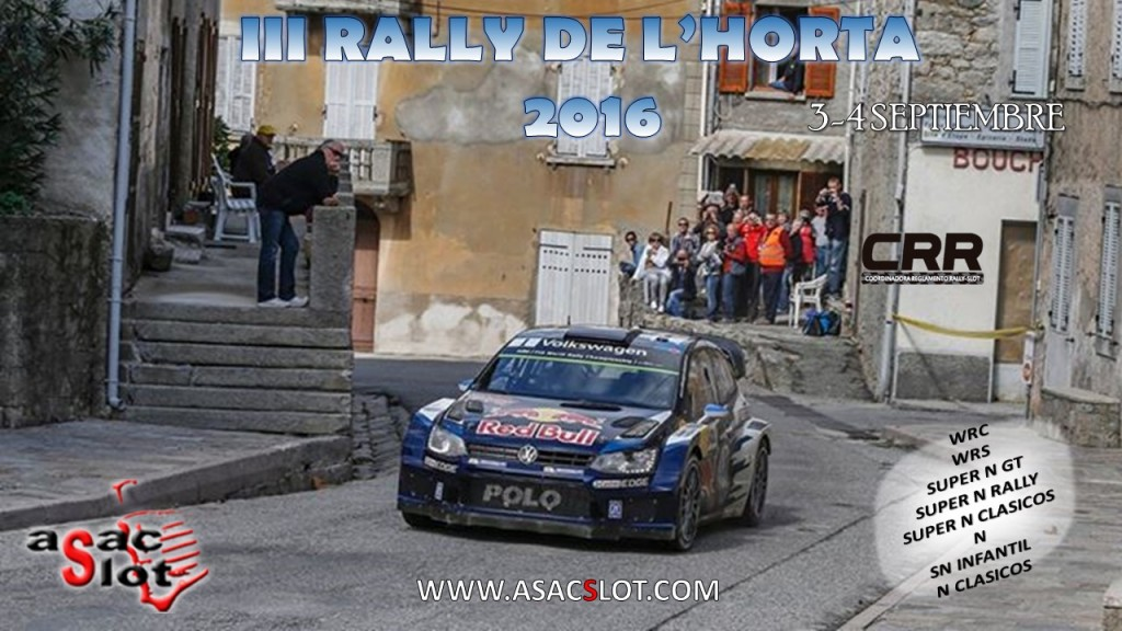 CARTEL III RALLY DE L' HORTA